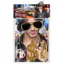 Kit de Rapero con Gafas de Sol, Collar y Pulsera