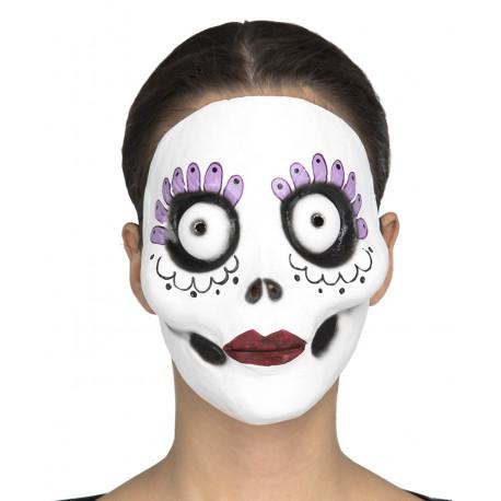 Máscara de Catrina Día de los Muertos de Látex