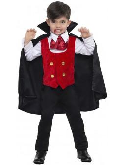 Disfraz de Vampiro Rojo y Negro Infantil