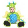 Disfraz de Dragón Verde de Peluche para Bebé
