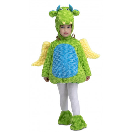 Disfraz de Dragón Verde de Peluche Infantil