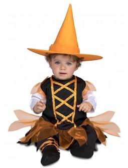Disfraz de Bruja Naranja para Bebé