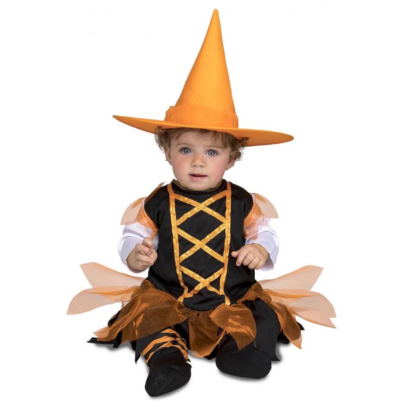 Disfraz De Bruja Naranja Para Bebe Comprar Online - Disfraz-de-bruja-para-bebe