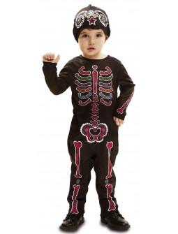 Disfraz de Esqueleto Catrín Multicolor para Bebé