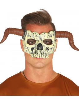 Máscara de Calavera con Cuernos