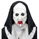Máscara de Monja Asesina de Látex con Tocado