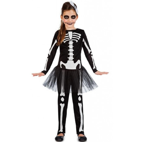 Disfraz de Esqueleto con Tutú para Niña