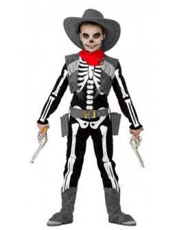 Disfraz de Vaquero Esqueleto para Niño