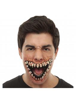 Prótesis de Sonrisa Aterradora con Sangre
