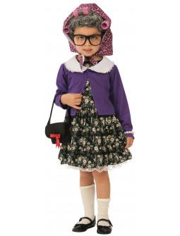 Disfraz de Anciana para Niña