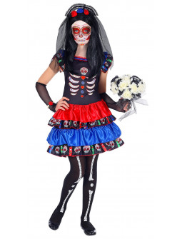 Disfraz de Catrina Dia de los Muertos para Niña
