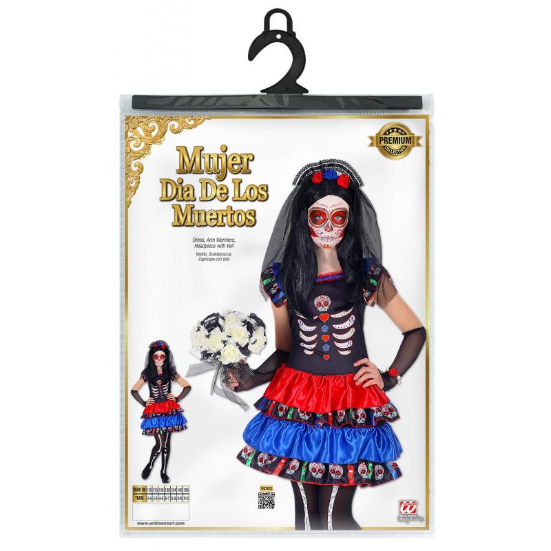 Disfraz De Catrina Dia De Los Muertos Para Niña Comprar