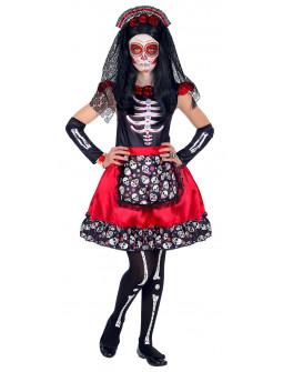 Disfraz de Catrina Muerte Mexicana para Niña
