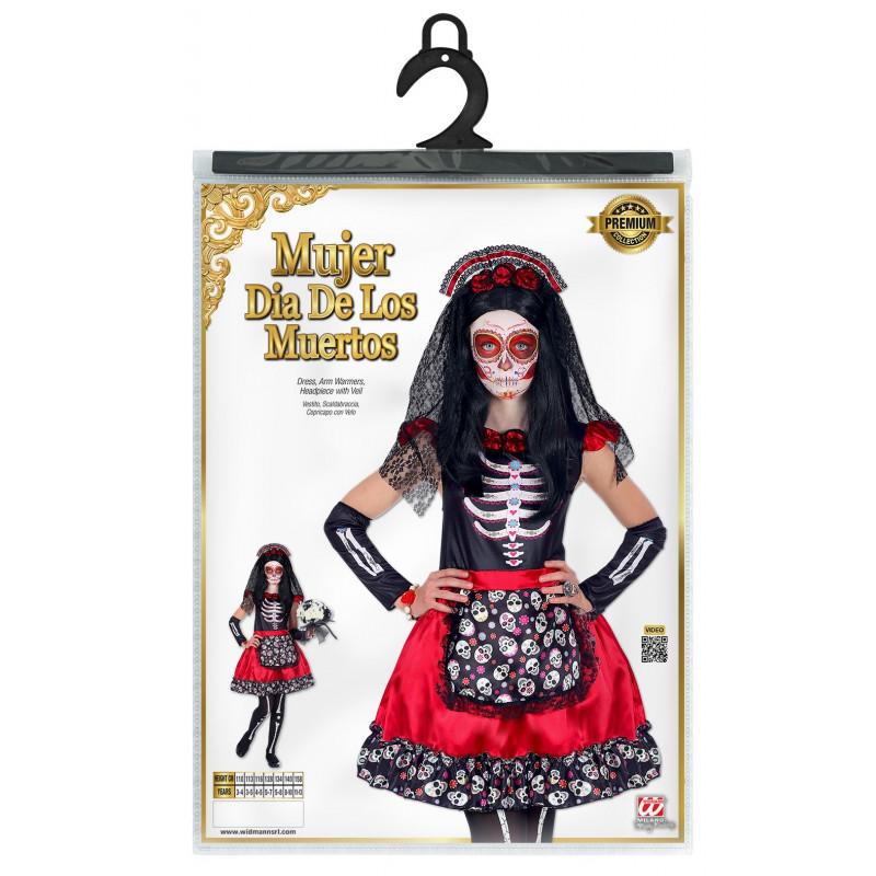Disfraz De Catrina Muerte Mexicana Para Niña Comprar