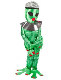 Disfraz de Alien Extraterrestre Verde para Mujer