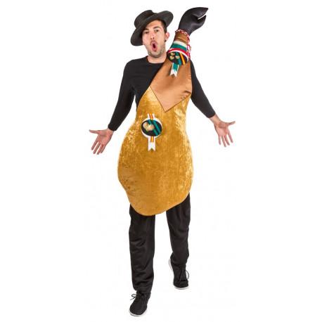 Disfraz de Jamón Ibérico Pata Negra para Adulto