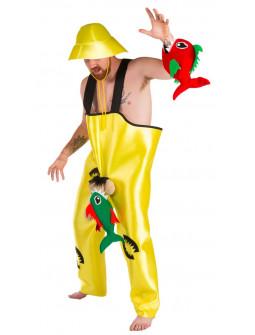 Disfraz de Pescador Salido con Pirañas para Hombre