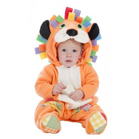 Disfraz de León con Melena Multicolor para Bebé