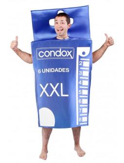 Disfraz de Caja de Condones XXL para Adulto