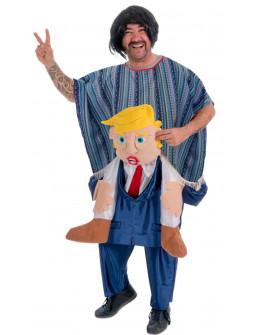 Disfraz de Mexicano a Hombros de Donald Trump