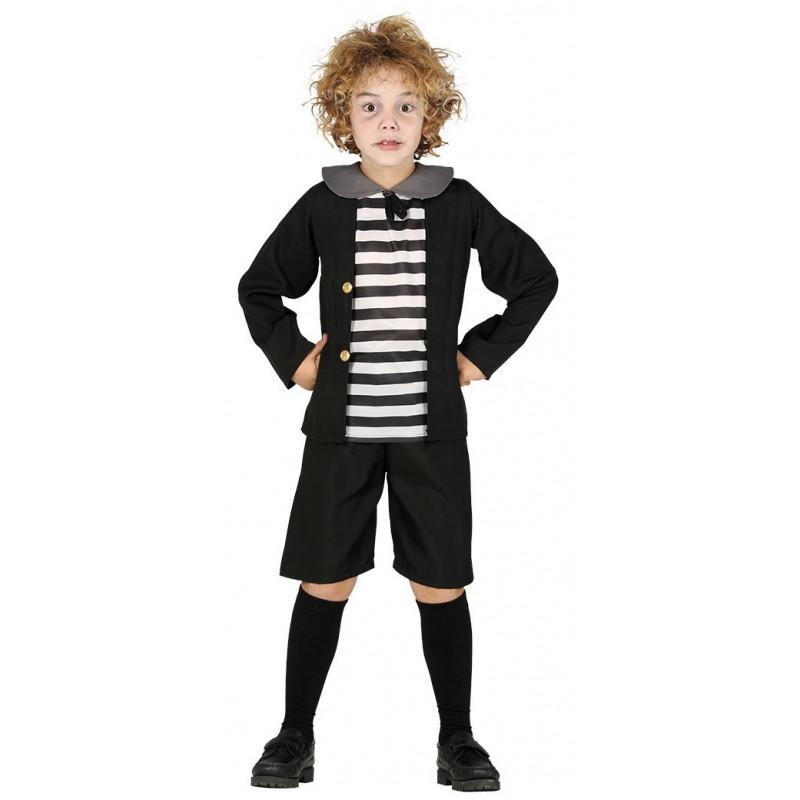 Disfraz De Nino De La Familia Addams Infantil Comprar - Disfraces-familia-adams