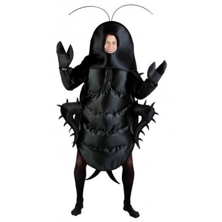 Disfraz de Cucaracha Negra para Adulto