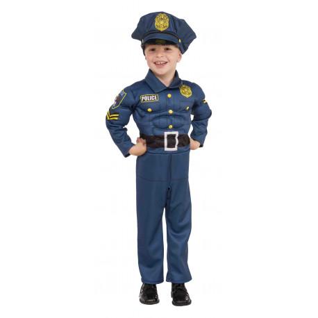 Disfraz de Policía Musculoso para Niño