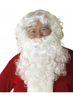 Peluca Blanca de Papá Noel con Barba