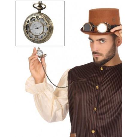 Reloj de Bolsillo Steampunk con Cadena