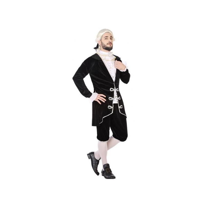 Disfraz Negro Época Para De Hombre Cortesano LqRcS354Aj