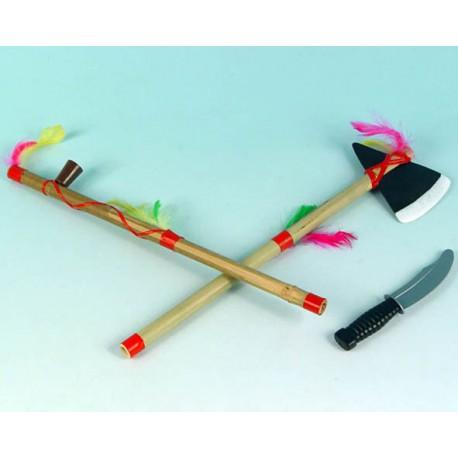 Setr de indio - Lanza, pipa y cuchillo -