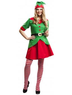 Disfraz de Elfa de Papá Noel para Mujer