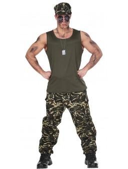 Disfraz de Comando Militar para Adulto