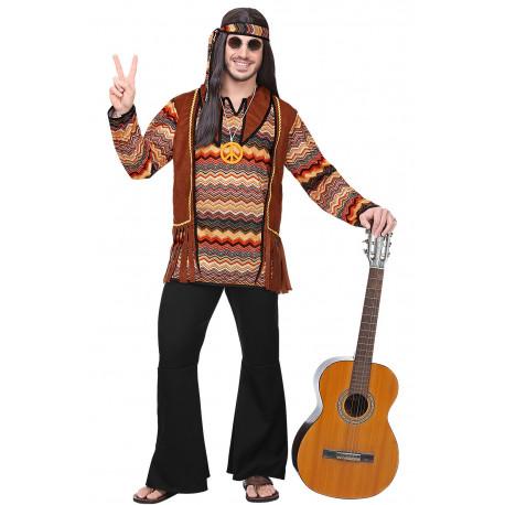 Disfraz de Hippie Pacifista con Chaleco para Hombre