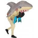 Disfraz de Tiburón Atacando a Buceador Hinchable