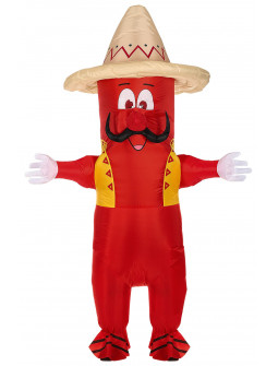 Disfraz de Pimiento Mexicano Hinchable para Adulto