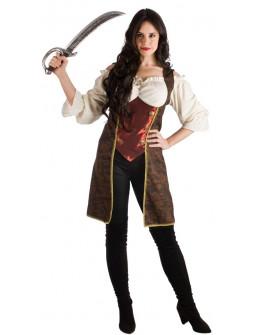 Disfraz de Capitana Pirata Elegante para Mujer