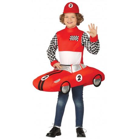 Disfraz de Piloto de Carreras con Coche para Niño