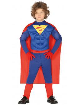 Disfraz de Superhéroe Musculoso con Capa Infantil
