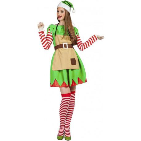 Disfraz de Elfa Ayudante de Papá Noel para Mujer
