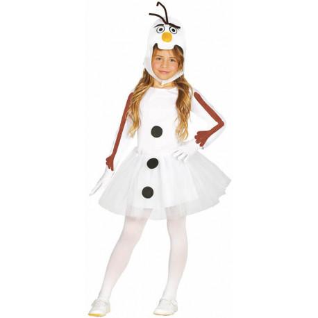 Disfraz de Muñeco de Nieve Olaf para Niña