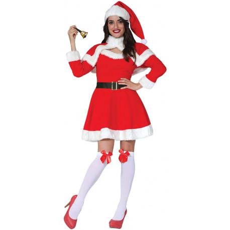 Disfraz de Mamá Noel Manga Larga para Mujer