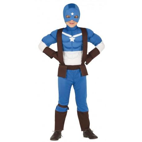 Disfraz de Capitán América Musculoso Infantil