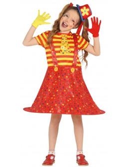 Disfraz de Payasa Roja y Amarilla para Niña