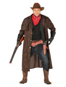 Disfraz de Cowboy con Abrigo Largo para Hombre