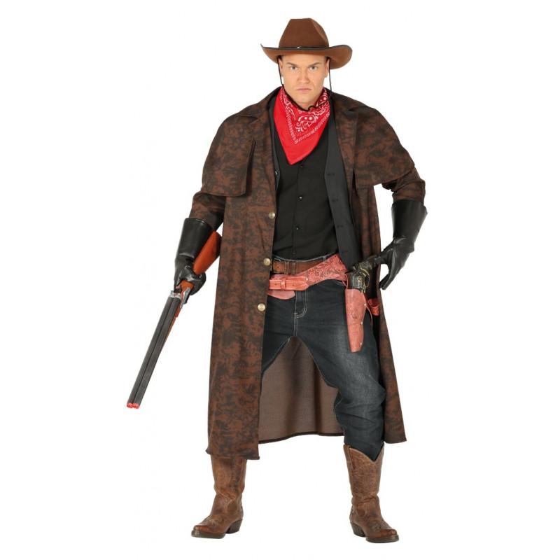 7d6471ba8b367 Disfraz de Cowboy con Abrigo Largo para Hombre