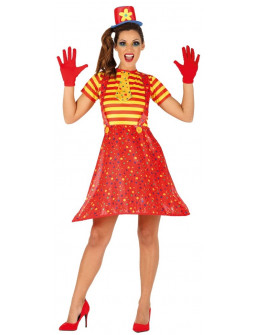 Disfraz de Payasa Roja y Amarilla para Mujer