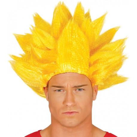 Peluca de Goku Super Saiyan Amarilla