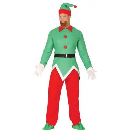 Disfraz de Elfo de Navidad para Hombre