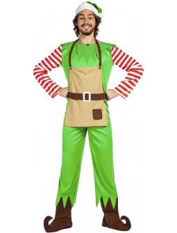 Disfraz de Elfo Ayudante de Papá Noel para Hombre